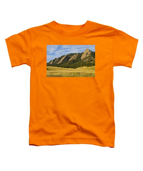 Flatiron Morning Light Boulder Colorado Toddler T-Shirt