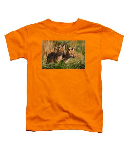 Fox Cubs At Sunrise Toddler T-Shirt