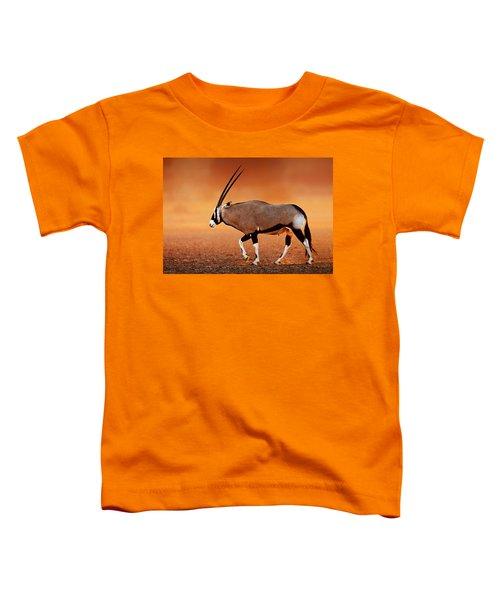 Gemsbok On Desert Plains At Sunset Toddler T-Shirt