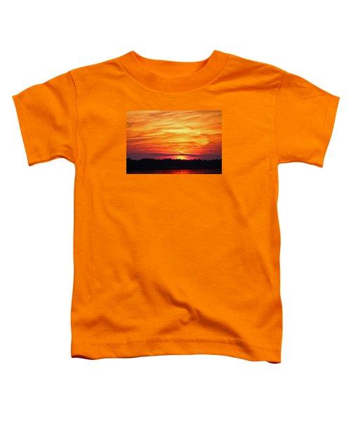 God Paints The Sky Toddler T-Shirt