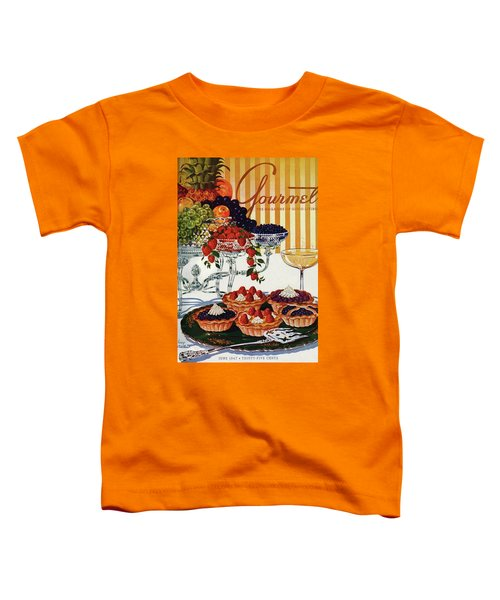 Gourmet Cover Of Fruit Tarts Toddler T-Shirt