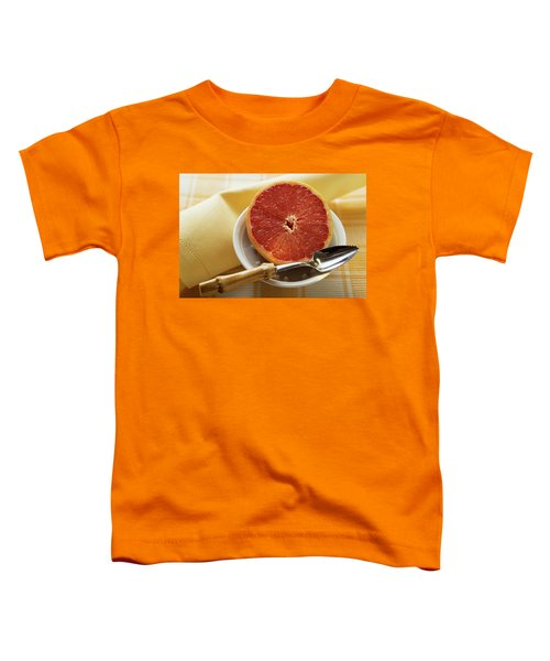 Grapefruit Half With Grapefruit Spoon In A Bowl Toddler T-Shirt