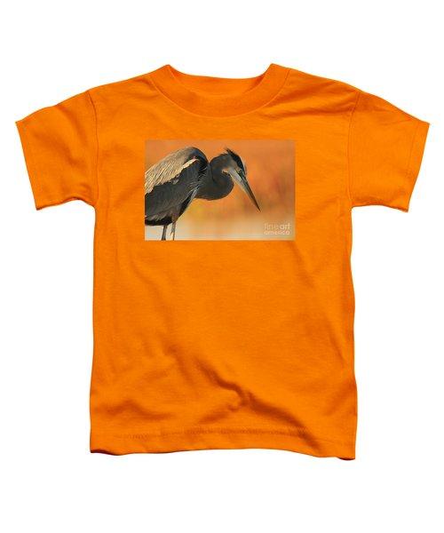 Great Blue Heron Focus Toddler T-Shirt