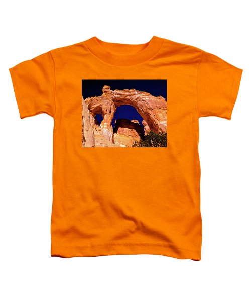 Grosvenor Arch Sunset Kodachrome Basin Toddler T-Shirt