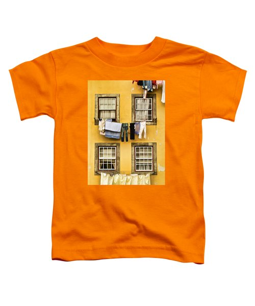 Hanging Clothes Of Old World Europe Toddler T-Shirt