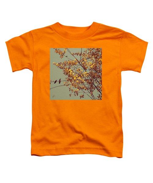Hummingbirds On Yellow Tree Toddler T-Shirt