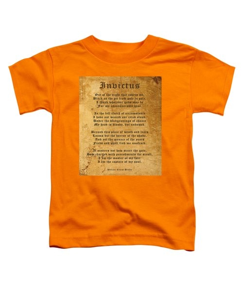 Invictus As A Tribute To Nelson Mandela Toddler T-Shirt
