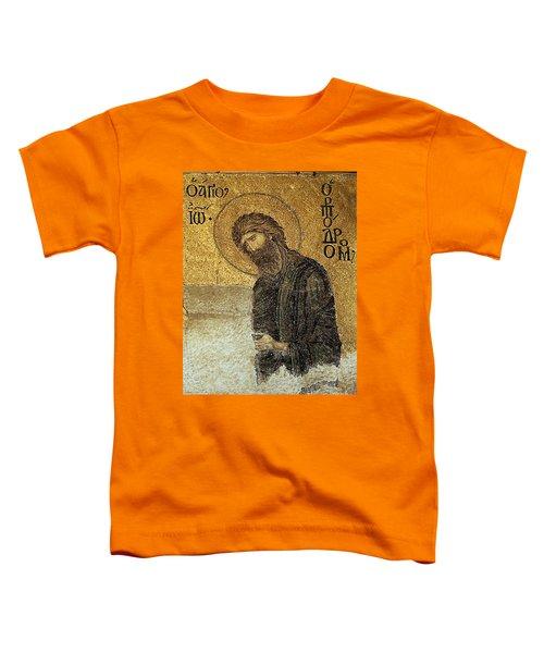 John The Baptist-detail Of Deesis Mosaic  Hagia Sophia-judgement Day Toddler T-Shirt