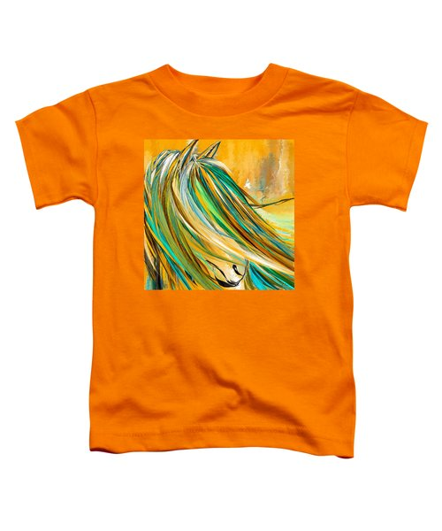 Joyous Soul- Yellow And Turquoise Artwork Toddler T-Shirt