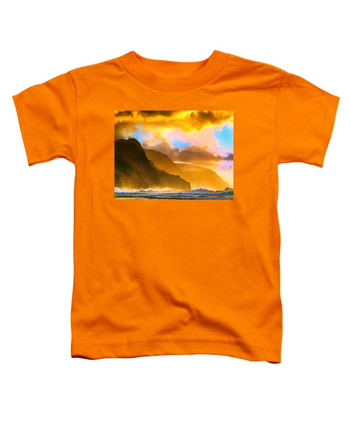 Ke'e Beach Sunset Toddler T-Shirt