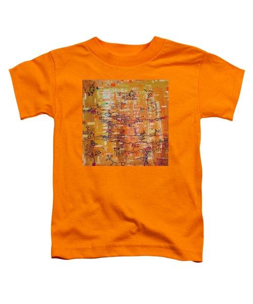 Lattice Animals Abstract Oil Painting By Regina Valluzzi Toddler T-Shirt