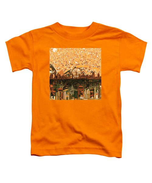 London Skyline Abstract 7 Toddler T-Shirt by Bekim Art