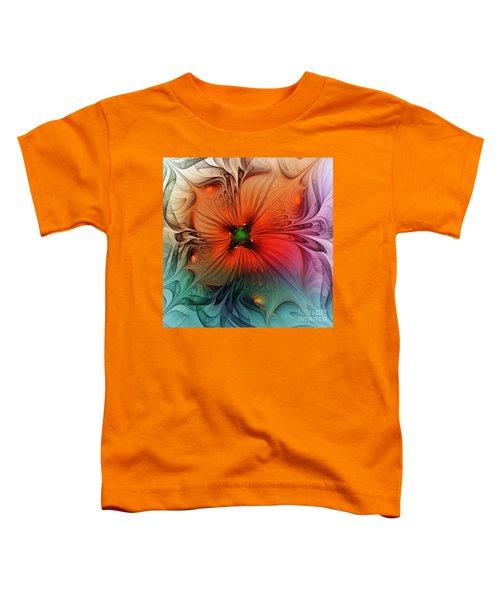 Luxury Blossom Dressed In Velvet And Silk Toddler T-Shirt
