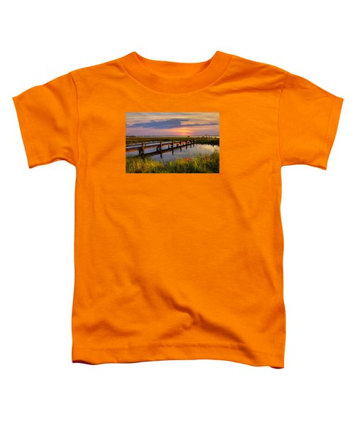 Toddler T-Shirt featuring the photograph Marsh Harbor by Debra and Dave Vanderlaan