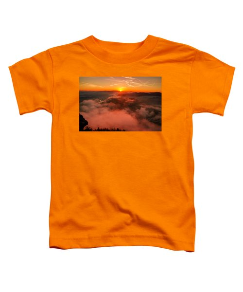 Misty Sunrise On The Lilienstein Toddler T-Shirt