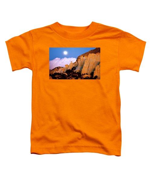 Moonrise Over The Kaiparowits Plateau Utah Toddler T-Shirt