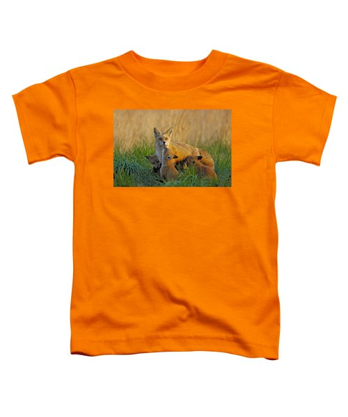Mother Fox And Kits Toddler T-Shirt