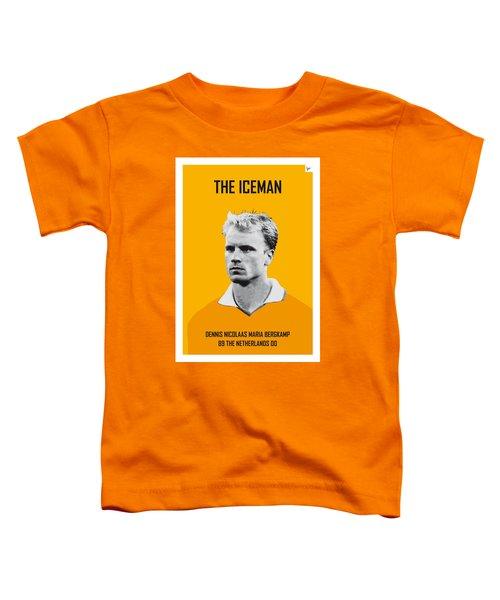 My Bergkamp Soccer Legend Poster Toddler T-Shirt by Chungkong Art