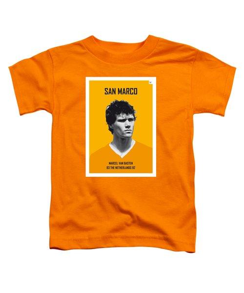 My Van Basten Soccer Legend Poster Toddler T-Shirt by Chungkong Art