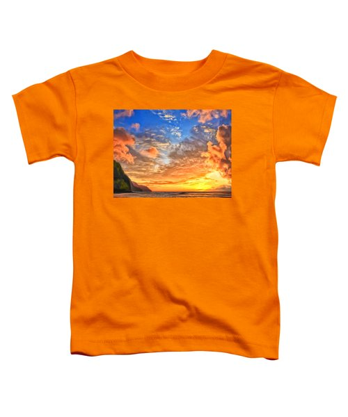 Na Pali Coast Sunset Toddler T-Shirt