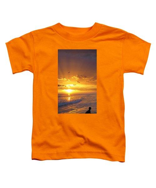 Not Yet - Sunset Art By Sharon Cummings Toddler T-Shirt