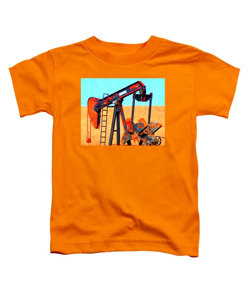 Oil Pump - Painterly Toddler T-Shirt