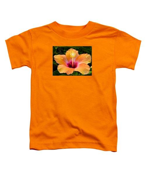 Orange Hibiscus And Dew Drops Toddler T-Shirt