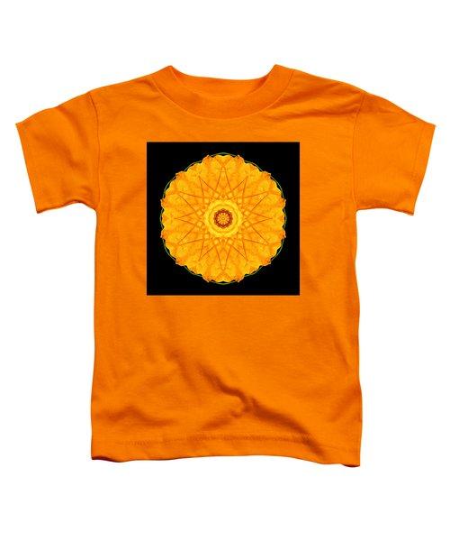 Orange Nasturtium Flower Mandala Toddler T-Shirt