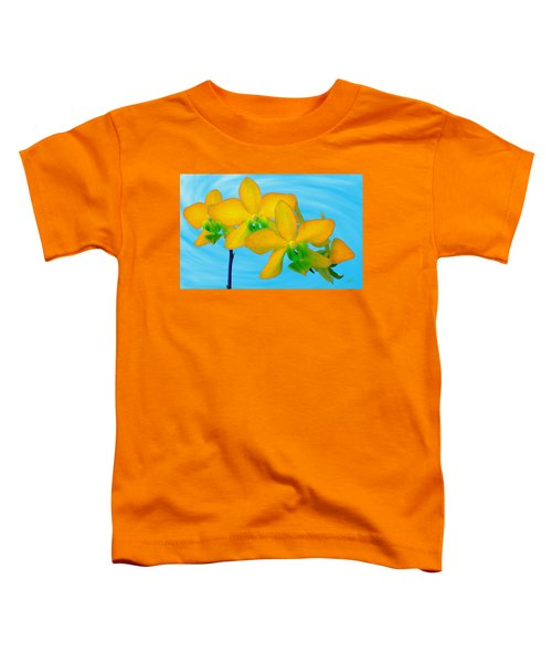 Orchid In Yellow Toddler T-Shirt