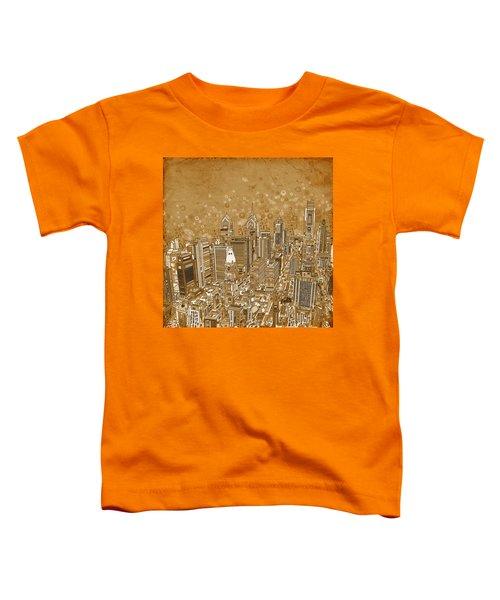 Philadelphia Panorama Vintage Toddler T-Shirt