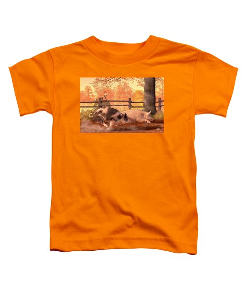 Pig Race Toddler T-Shirt