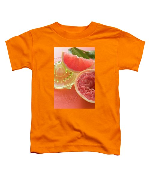 Pink Grapefruit Wedge, Squeezed Grapefruit, Citrus Squeezer Toddler T-Shirt