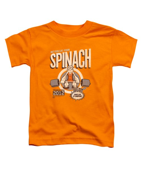 Popeye - Eat Your Spinach Toddler T-Shirt by Brand A
