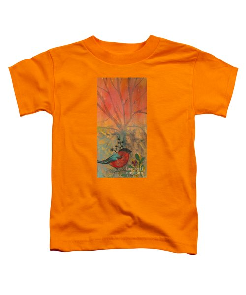 Red Peace Bird Toddler T-Shirt