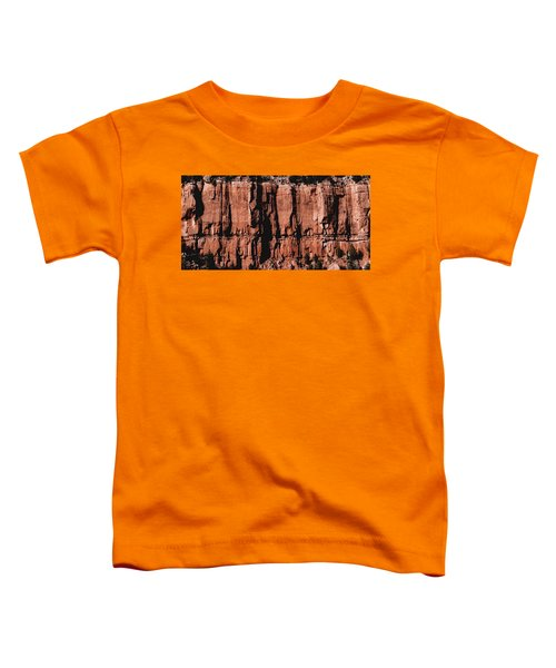 Red Rock Wall Toddler T-Shirt