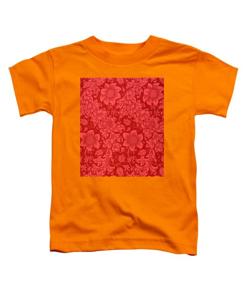 Red Sunflower Wallpaper Design, 1879 Toddler T-Shirt