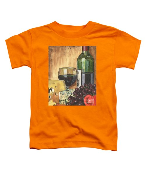 Red Wine And Cheese Toddler T-Shirt