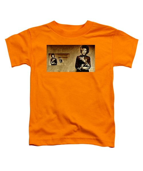 Reflecting On Jimi Hendrix  Toddler T-Shirt