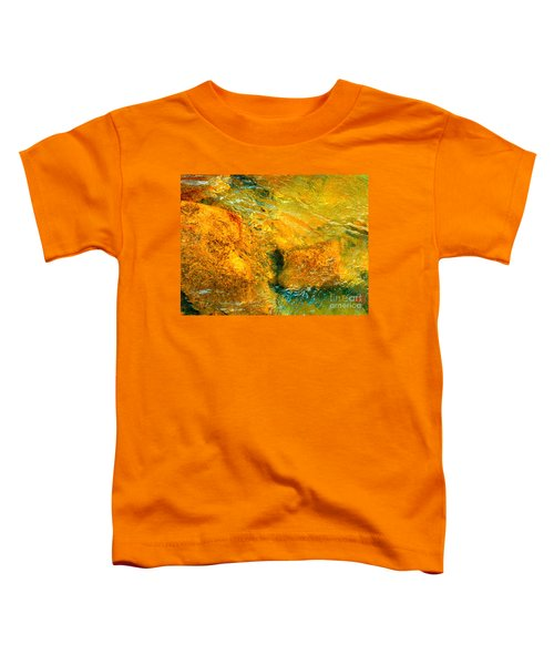 Rocks Under The Stream By Christopher Shellhammer Toddler T-Shirt
