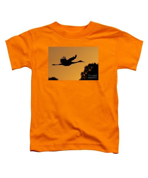 Sandhill Crane In Flight Toddler T-Shirt