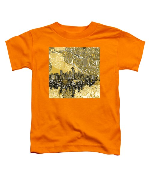 Seattle Skyline Abstract 2 Toddler T-Shirt