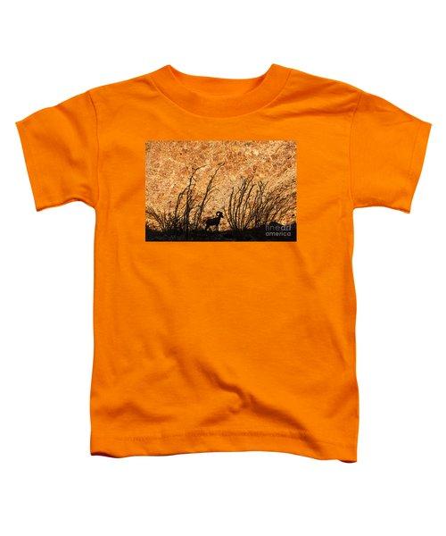 Silhouette Bighorn Sheep Toddler T-Shirt