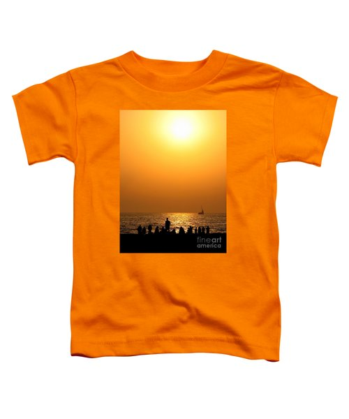 St. Petersburg Sunset Toddler T-Shirt by Peggy Hughes