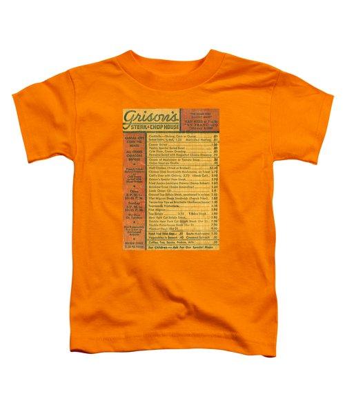 Steak House Wooden Menu Toddler T-Shirt
