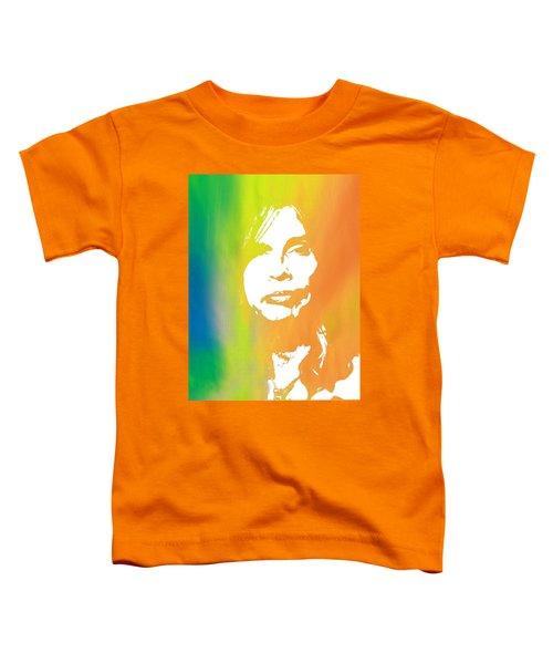 Steven Tyler Toddler T-Shirt by Dan Sproul