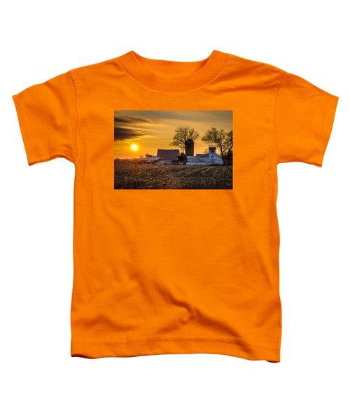 Sun Rise Over The Farm Toddler T-Shirt