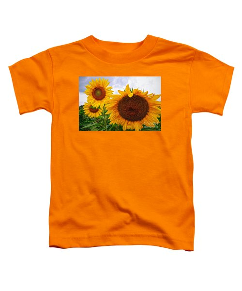Sunflower Mama And Her Daughters  Toddler T-Shirt