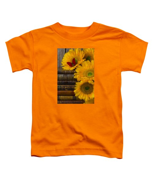 Sunflowers And Old Books Toddler T-Shirt
