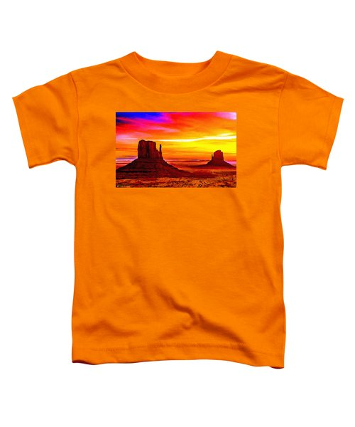 Sunrise Monument Valley Mittens Toddler T-Shirt