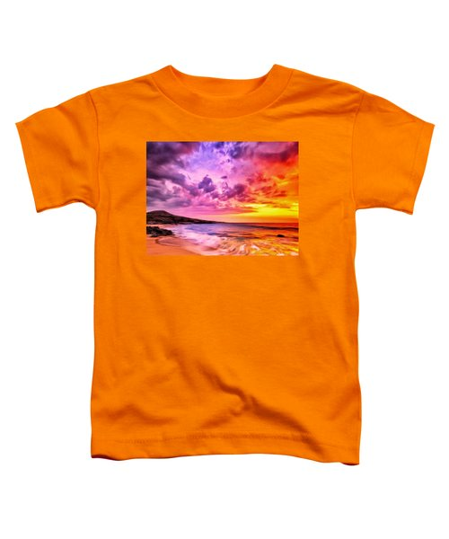 Sunset At Manini'owali Beach Toddler T-Shirt